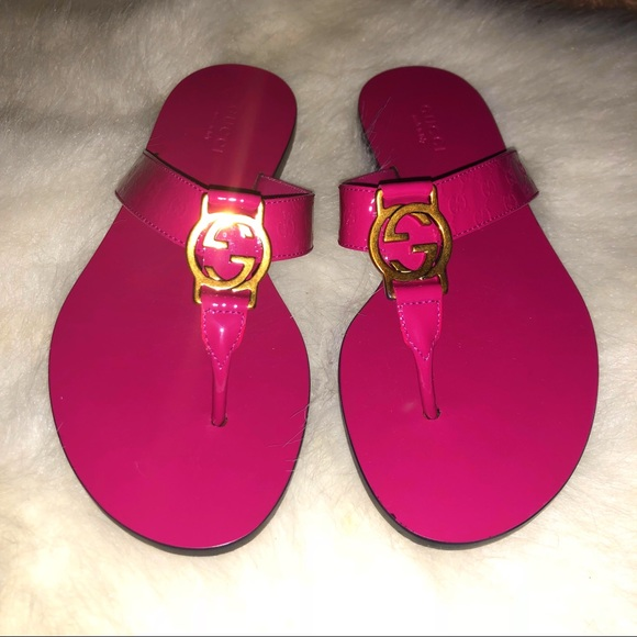 5f9d86fd8 Gucci GG Thong Sandal in Fuchsia